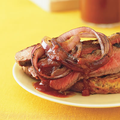 Sunday BBQ: Grilled Rib-Eye Steaks with Cola Steak Sauce
