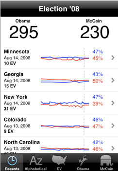 Election 08 App for Your iPhone