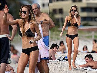 Lindsay Lohan Bikini Photos in Miami New Year's Eve