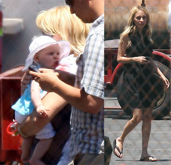 Photos of Celebrity Baby Harlow Madden and Nicole Richie On The Set in LA