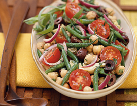 Fast & Easy Dinner: Two-Bean Salad with Tarragon Dressing