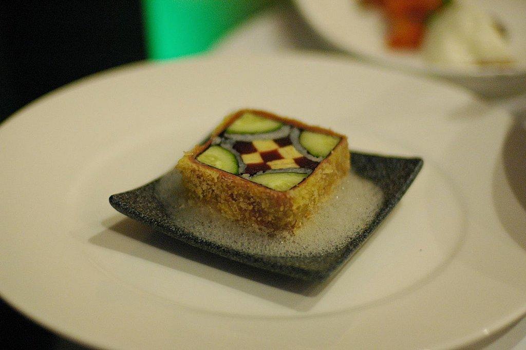 Morimoto's complex sushi roll.
