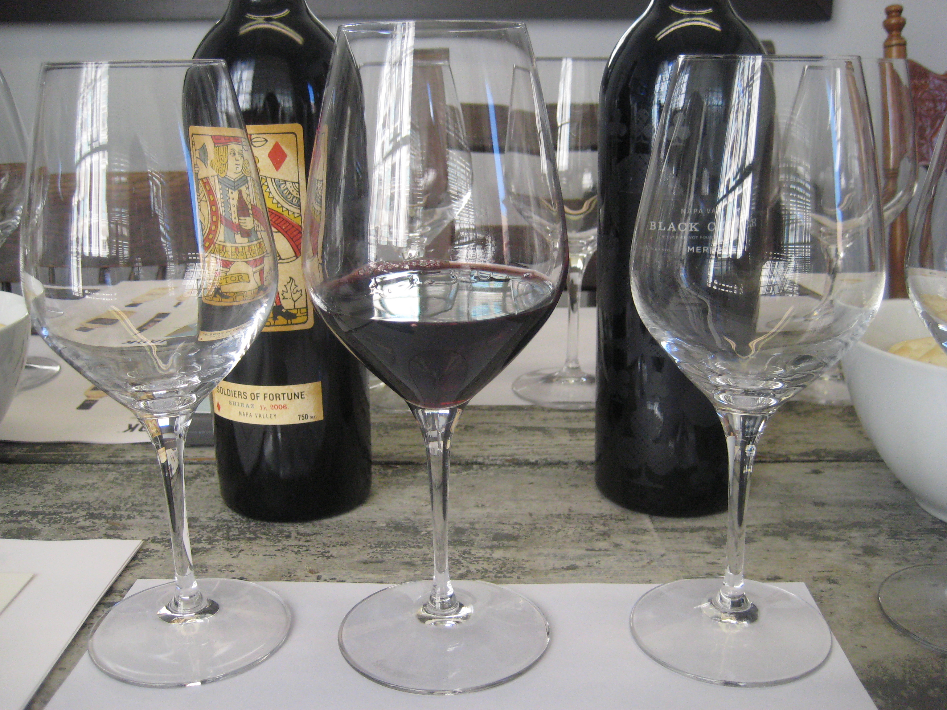 At a great wine tasting, you will be given a new glass for each wine.
