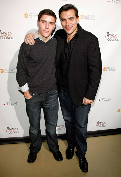 Chef Todd English and his son.