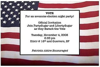Come Party With Me: Election Night — Invite