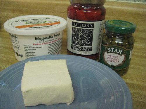 Piquillo Pepper Cheese Crostini