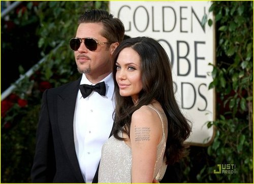 Brad & Angie @ the 66th Annual Golden Globes
