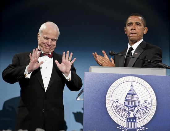 Front Page: Obama and McCain Dine On Inauguration Eve