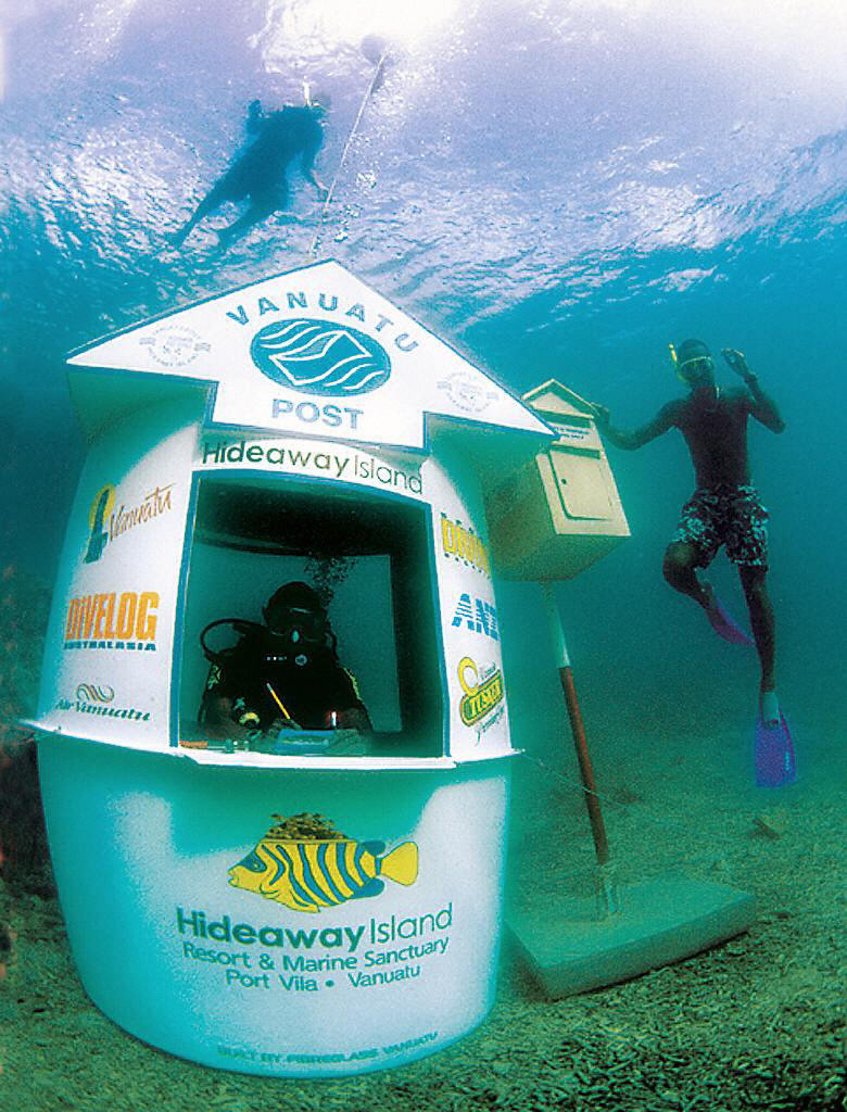 Vanuatu's underwater Post Office.