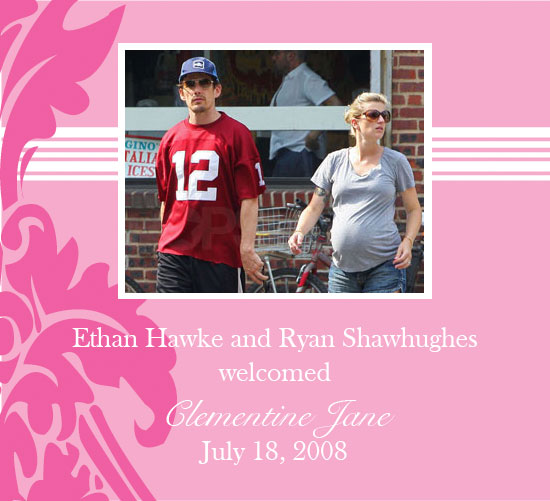 Ethan and Ryan Hawke Welcome a Baby Girl!
