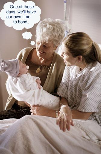 Grandmother Breastfeeds Grandson