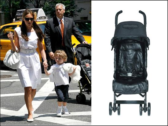 Barron Trump's Leather Stroller