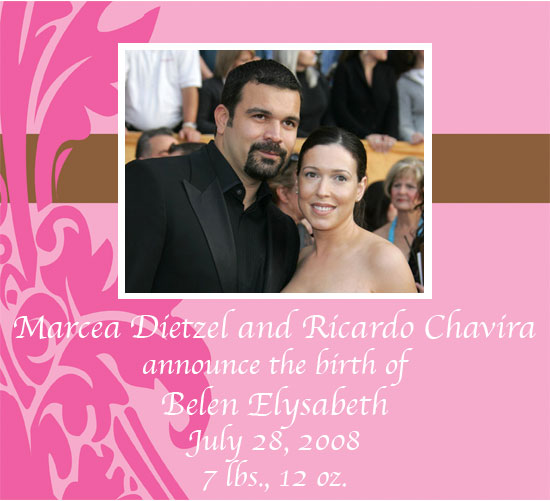 It's a Girl for Ricardo Chavira and Wife Marcea Dietzel!