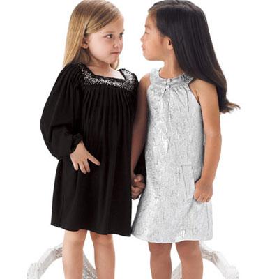Sister Sam Puffed Sleeve Dress ($90) and Sister Sam Metallic Sheath Dress ($110)
