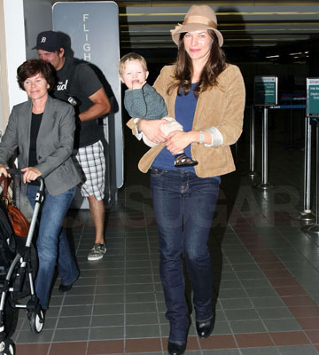 Milla and Ever Grin For the Paps