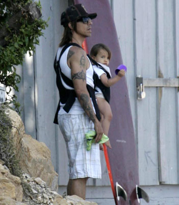 Anthony and Everly Get Their Bearings at the Beach