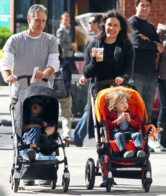 John Stewart Strolls With the Family in NYC