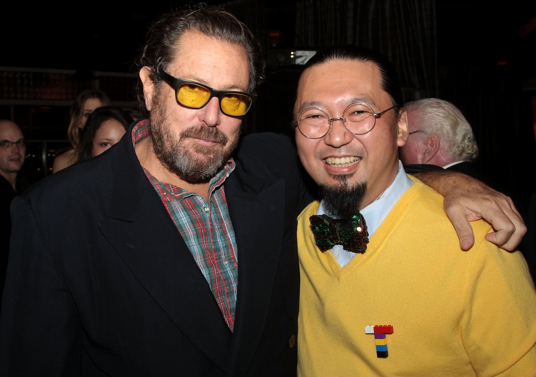 Takashi Murakami and Julian Schabel