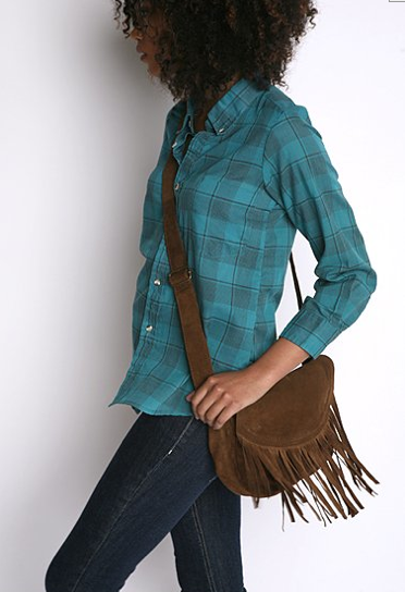 Suede Fringe Crossover Bag $48, Urban Outfitters