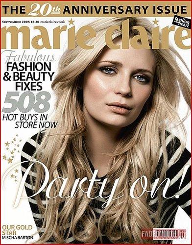 MISCHA BARTON DOES BRITISH 'MARIE CLAIRE'
