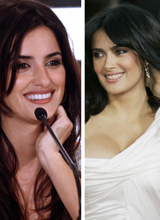 Penelope Cruz and Salma Hayek - Seperated At Birth?