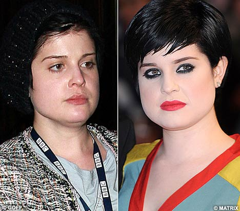 Whiter shade of pale: Kelly Osbourne ventures out without her make-up