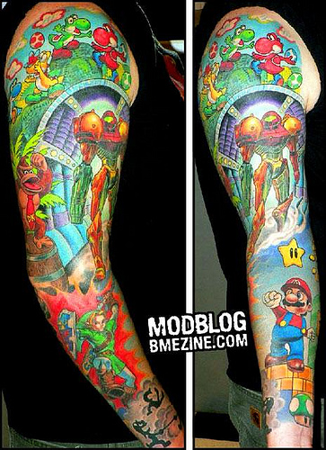 Video Game Tattoos- LOTS of them!