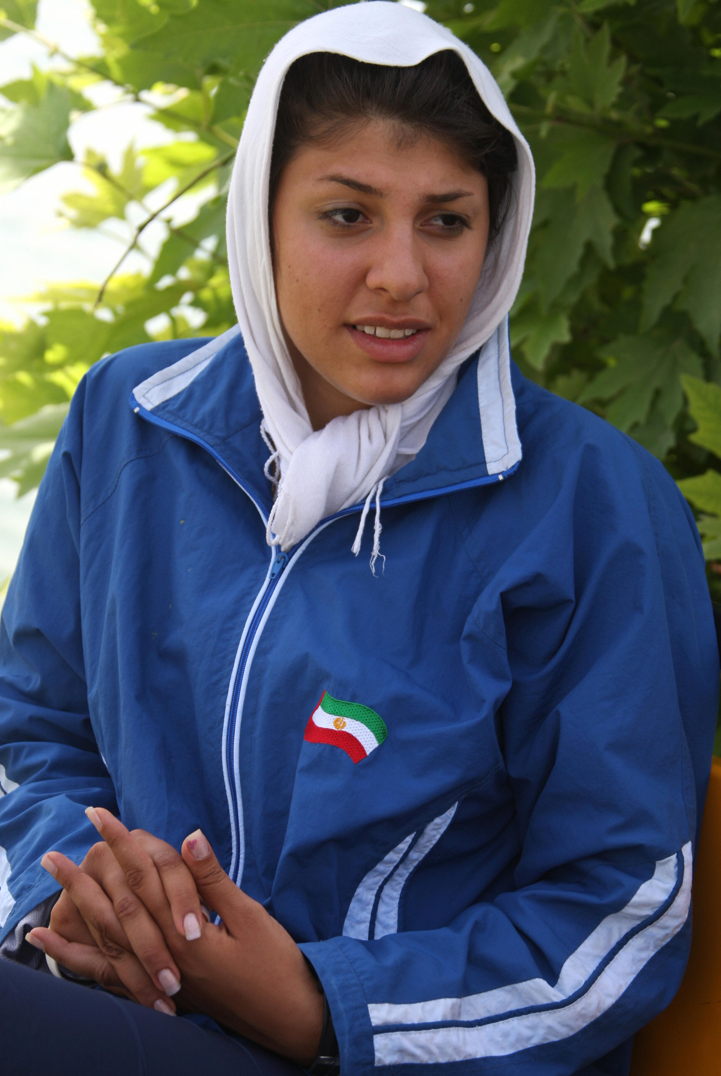Iranian rower Homa Hosseini.
