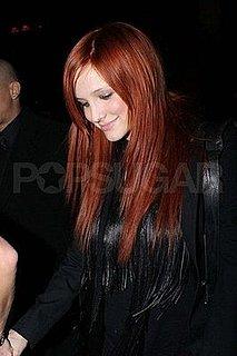 Ashlee Simpson Colors Hair Red Again