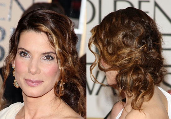 Sandra Bullock's Hair at the Golden Globe Awards