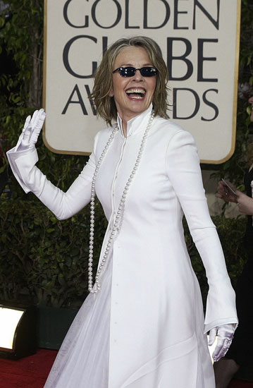 At the Golden Globes in 2004 (she won!).