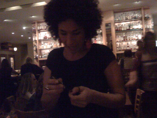 Even our server Amy got in on the action.