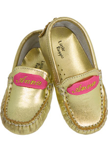 Supersize This:  Monogrammed Baby Moccasins