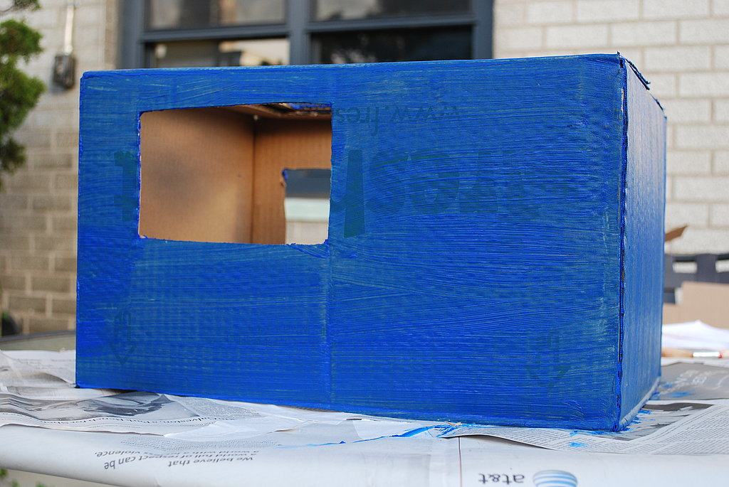 Paint the box your desired airplane body color.