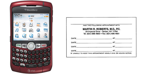 Capture Appointment Cards on Your Cell Phone