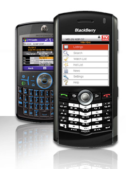 Get TV Guide on Your BlackBerry or Windows Mobile Phone