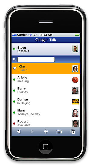 Use Google Talk in Safari on Your iPhone