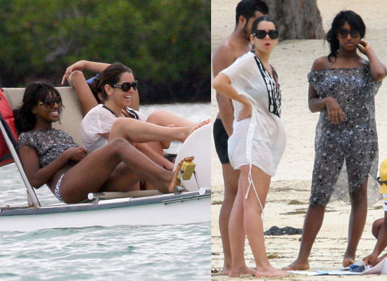 Photos of Alexandra Burke and Ruth Lorenzo in Bikinis on Holiday in Mauritius