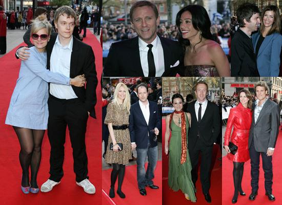 Daniel Craig, Alfie Allen, Lily Allen, Noel Gallagher and Claudia Schiffer at Flashbacks of a Fool UK Premiere