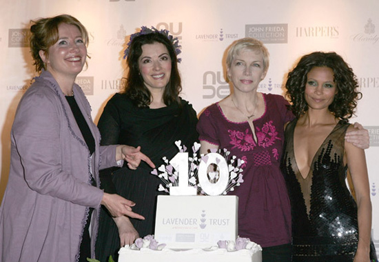 Emma Thompson, Nigella Lawson, Annie Lennox and Thandie Newton at the 10th Anniversary Party of The Lavender Trust