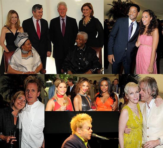 Photos of Gordon Ramsay, Annie Lennox, Sugababes, Will Smith, Leona Lewis at Nelson Mandela's 90th Birthday Party