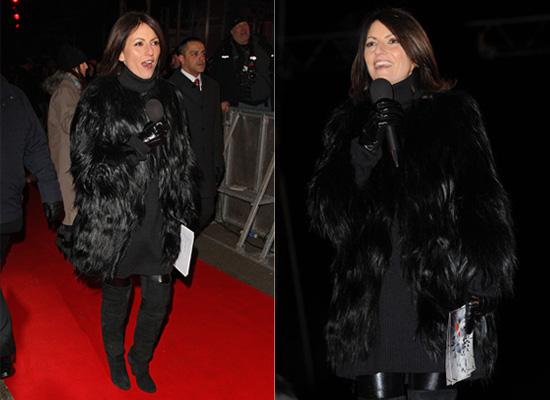 Davina McCall on Celebrity Big Brother, Fur Coat