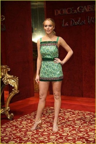 Lindsay Lohan is the Green Queen
