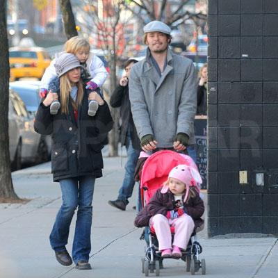 Mira Sorvino's Crew Hits the Town