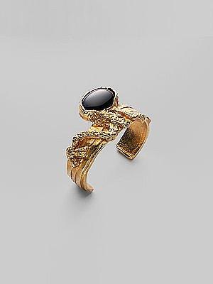 Yves Saint Laurent - Arty Ovale Black Bracelet