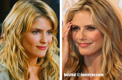 Alice Taglioni and Heidi Klum -- Separated at Birth?