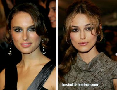 Natalie Portman and Keira Knighley -- Separated at Birth?