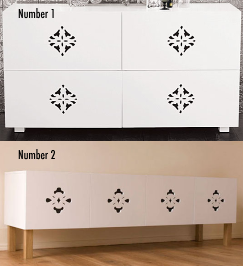 Less or More: Laser-Cut Dressers
