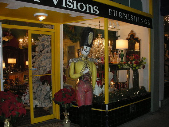 I Spy: Antique Shop Holiday Window Display