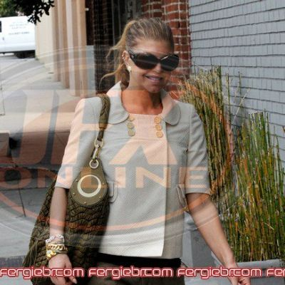 Fergie hot going to studio